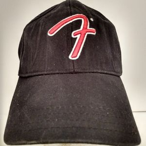 Fender Black Flexible Fitted Hat Cap